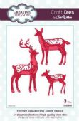 Sue Wilson Craft Dies - Festive Collection - Deer Family - CED3042